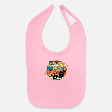 Cake For Birthday Born In The Summer Of 69 Funny 51st Birthday - Baby Bib