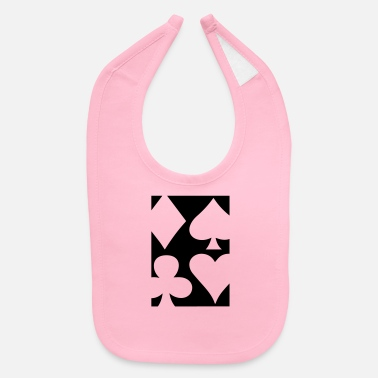 Pik Poker | Spade Heart Pik Diamond Casino Cards Gift - Baby Bib