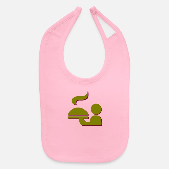 Wine Baby Clothing - kellner waiter restaurant gaststaette service12 - Baby Bib light pink