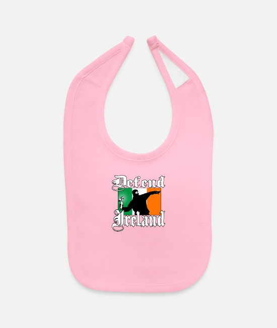 Celte Baby Bibs - Irish Hooligan with Ireland Flag - Baby Bib light pink