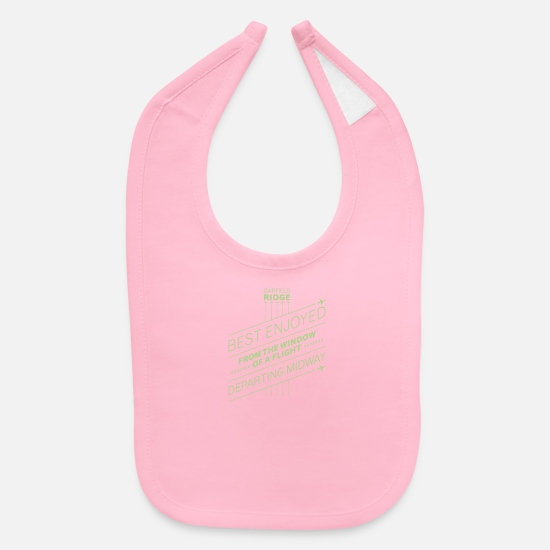 Art Baby Clothing - Best enjoyed from the window of a flight departing - Baby Bib light pink