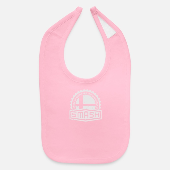 Crest Baby Clothing - Smash Crest - Baby Bib light pink