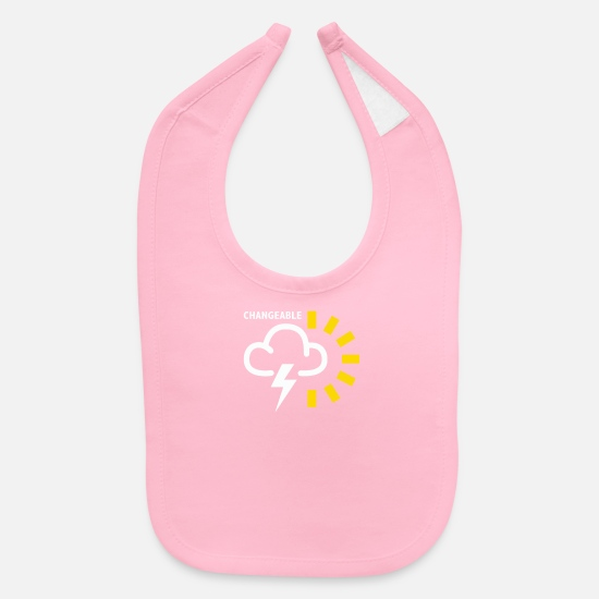 Weather Baby Clothing - Weather Forecast Symbol - Baby Bib light pink