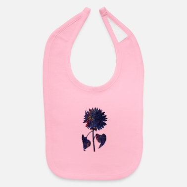 Flora abstract sunflower - Baby Bib