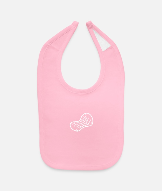 Peanut Baby Bibs - peanut nut nuts healthy food fabaceous legume eat - Baby Bib light pink
