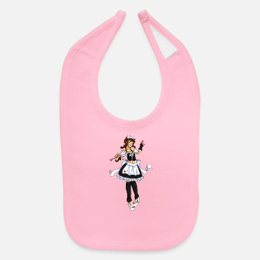 Pinup male housemaid pinup - Baby Bib