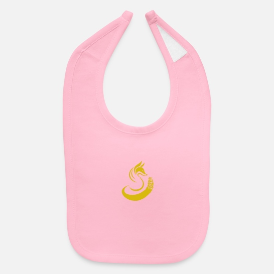 Gold Baby Clothing - Lonely Fox - Baby Bib light pink