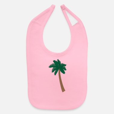 Palm Trees Palm Tree - Baby Bib
