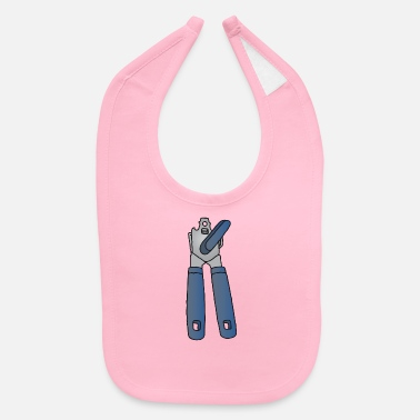 Open Tin opener, can opener - Baby Bib