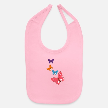 Group group of butterflies - Baby Bib