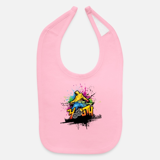 Graffiti Baby Clothing - graffiti 11 - Baby Bib light pink