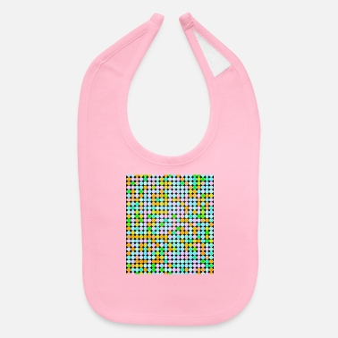 Bright Colours Bright, colourful circles in flat rows - Baby Bib
