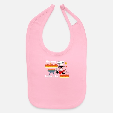 Butt Love Rub Meat Smoker Barbecue Lover - Baby Bib