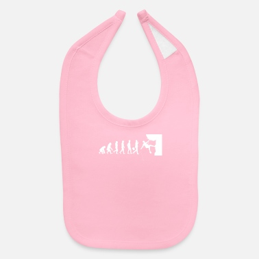 Mountain Climbing Evolution - Rock Climbing - Climb - Mountain - Baby Bib