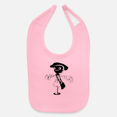Black And White Scarecrow - Baby Bib