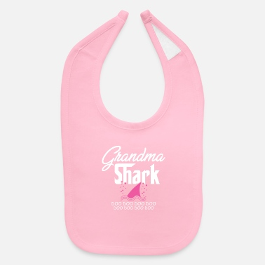 Grandson Grandma Shark Family Grandparent Ocean Granny Gift - Baby Bib