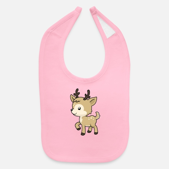 Stag Baby Clothing - Little Baby Deer - Baby Bib light pink