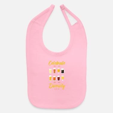 Beer Celebrate Diversity Craft Beer Lover - Baby Bib