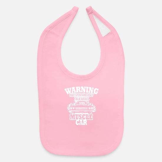 About Baby Clothing - Talk About Muscle Cars Gift Idea - Baby Bib light pink