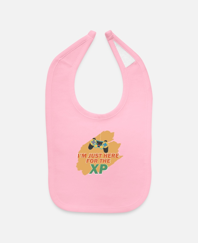 Play Baby Bibs - I'M Just Here For The Xp Retro Video Game Pc-Gamer - Baby Bib light pink