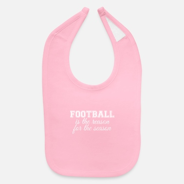 Santa Claus Football Is The Reason For The Season Sports Gift - Baby Bib