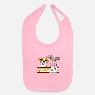 Dogs books and coffee - Baby Bib