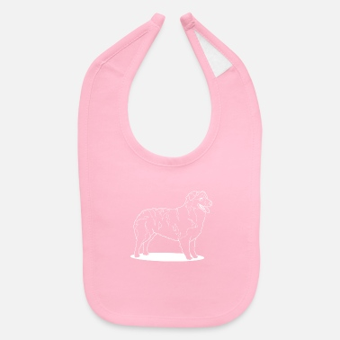 Australian Sheep Dog Australian Shepherd side profile - Baby Bib
