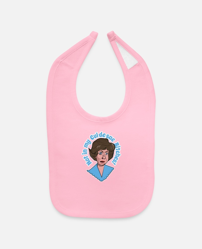 Series Baby Bibs - Mrs. Kravitz tells it like it is! - Baby Bib light pink