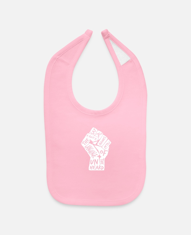 Quote Baby Bibs - A Riot Is the Language of the Unheard - Baby Bib light pink