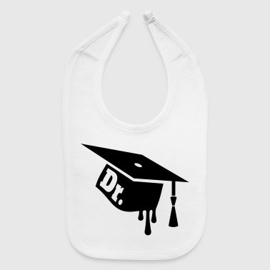 Graduation Cap - Mortarboard for Ph.D. Celebration - Baby Bib