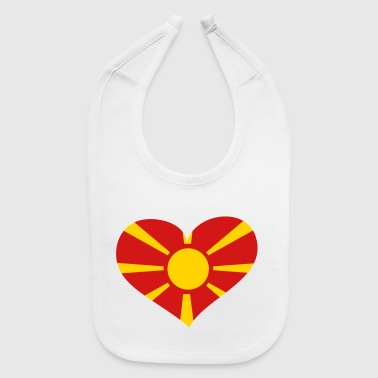 Macedonia Heart; Love Macedonia - Baby Bib
