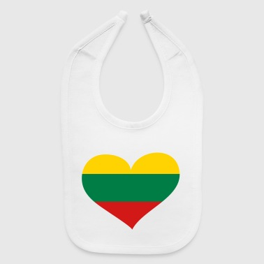 Lithuania Heart; Love Lithuania - Baby Bib