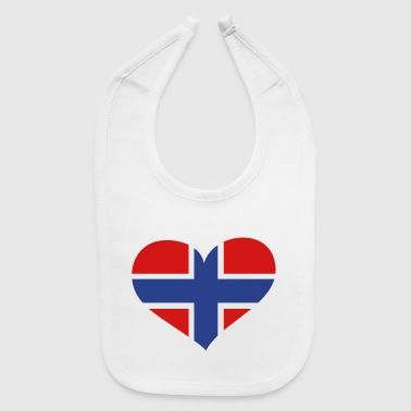 Norway Heart; Love Norway - Baby Bib