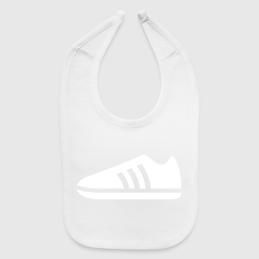 Leather A Blue Sports Shoe - Baby Bib