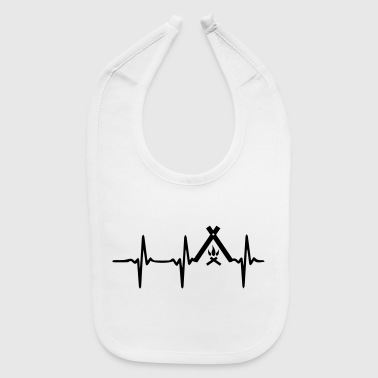 Heart Beat Camp - Baby Bib