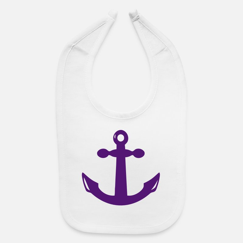 Anchor Baby Clothing - ANCHOR - Baby Bib white