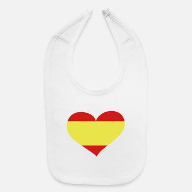 Spain Spain Heart; Love Spain - Baby Bib