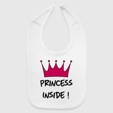 princess inside - Baby Bib