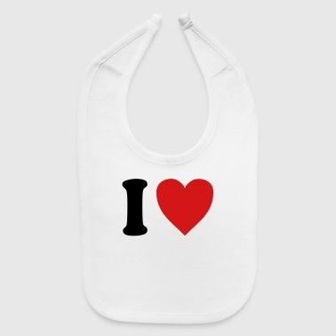 I Love Dad I love DAD (variable colors!) - Baby Bib