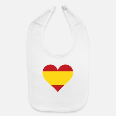 Spain A Heart For Spain - Baby Bib