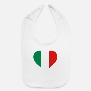 Italy A Heart For Italy - Baby Bib