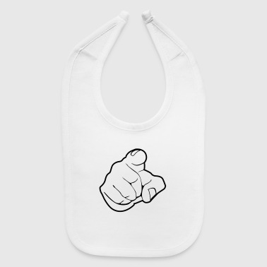 Index Finger Finger - forefinger - pointing finger - Baby Bib