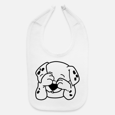 Bull Terrier cute dog - Baby Bib