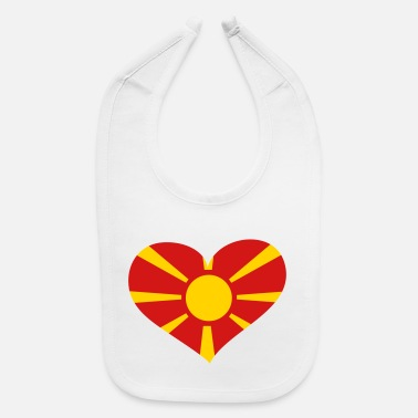 Macedonia Macedonia Heart; Love Macedonia - Baby Bib
