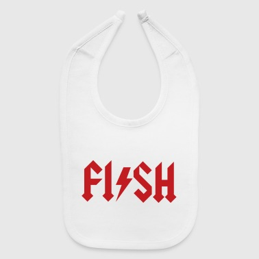 Rock Music FISH - fishing Hard Rock Metal music fisherman - Baby Bib
