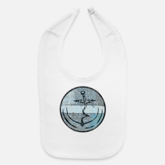 Hamburg Baby Clothing - art anchor - Baby Bib white