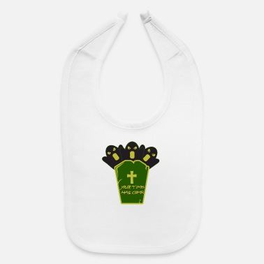 Grave Halloween with a grave - Baby Bib
