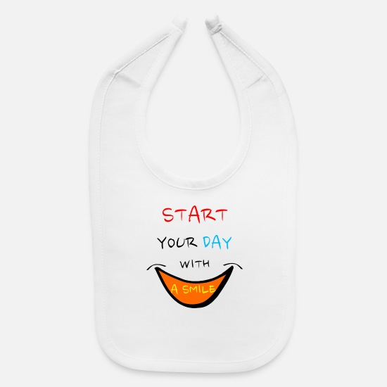 Idea Baby Clothing - sayings saying smile - Baby Bib white