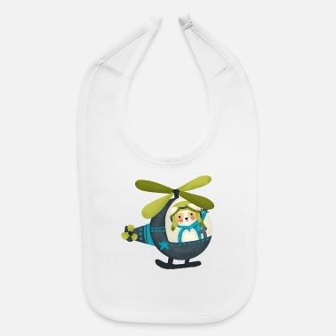 Cute Helicopter Sloth in Helicopter - Baby Bib