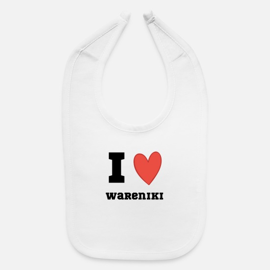 Souvenir Baby Clothing - Wareniki Russian love heart dish gift - Baby Bib white